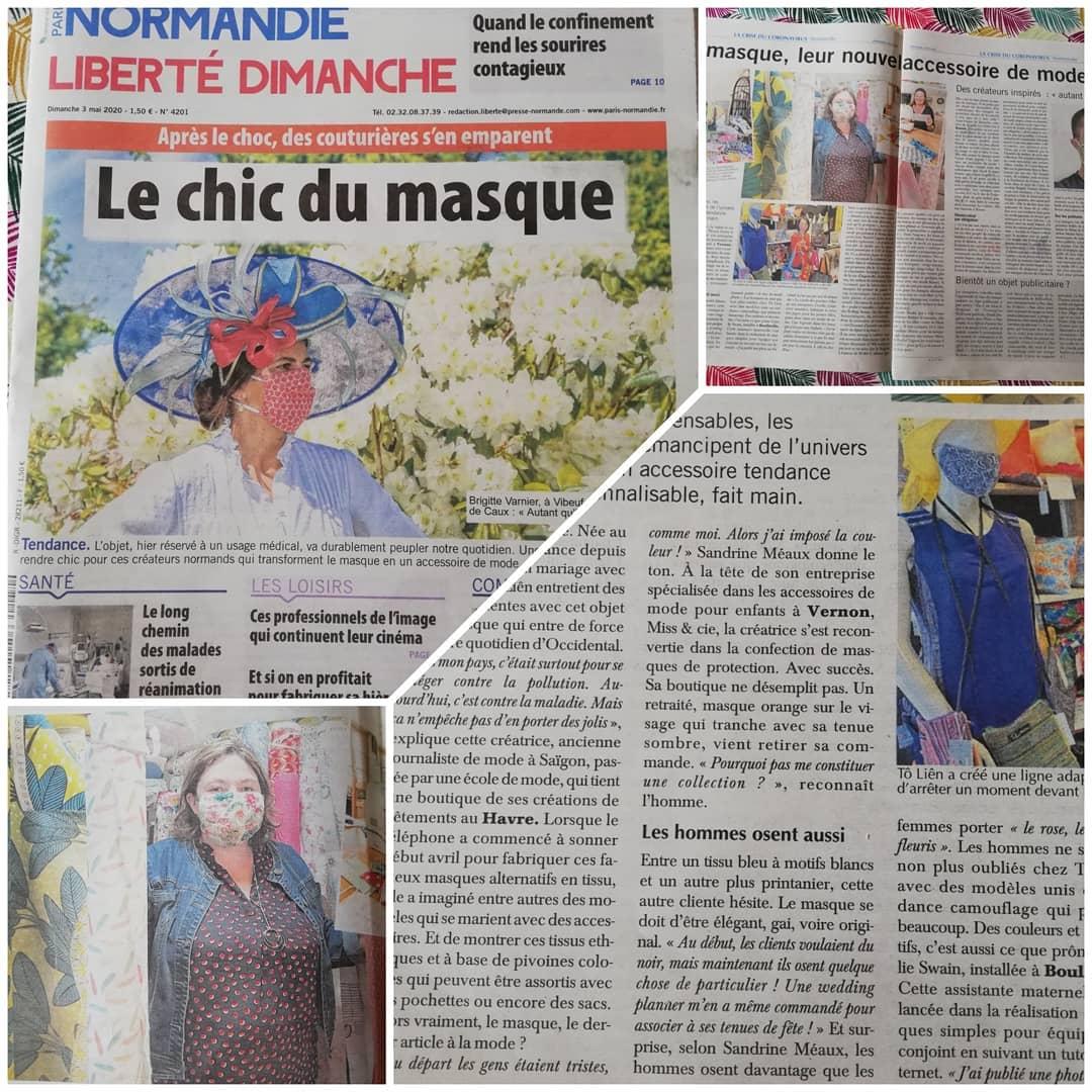 La presse en parle : Le chic du masque Miss & Cie
